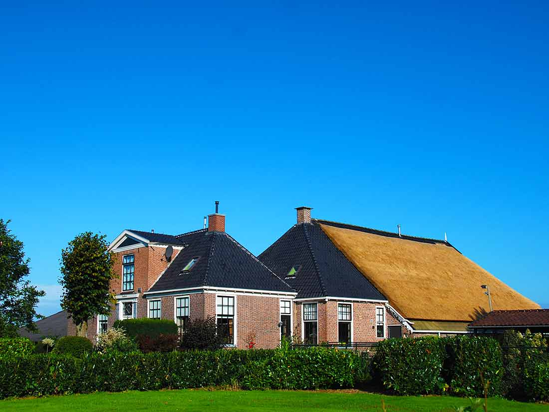 Algemeen, Woonboerderij met rieten dak