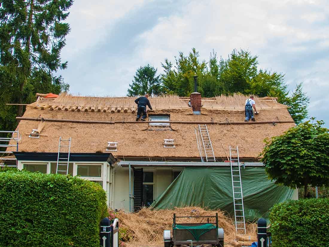 Duurzaamheid, Aanbrengen nieuw rieten dak