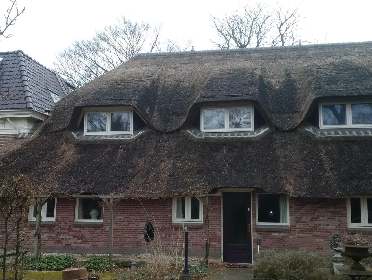 Haren  | rieten dak Haren voor met dakkapellen