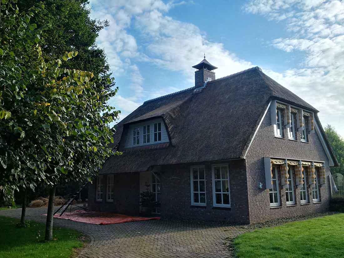 Een - Onderhoud van een rieten dak